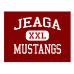 Jeaga - Mustangs - Middle - West Palm Beach Postcard