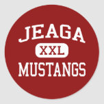 Jeaga - Mustangs - Middle - West Palm Beach Round Stickers