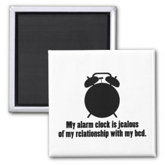 Jealous Alarm Clock Fridge Magnet