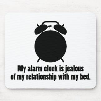 Jealous Alarm Clock Mouse Pad