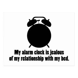 Jealous Alarm Clock Postcard