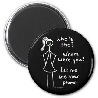 Jealous Girl 2 Inch Round Magnet