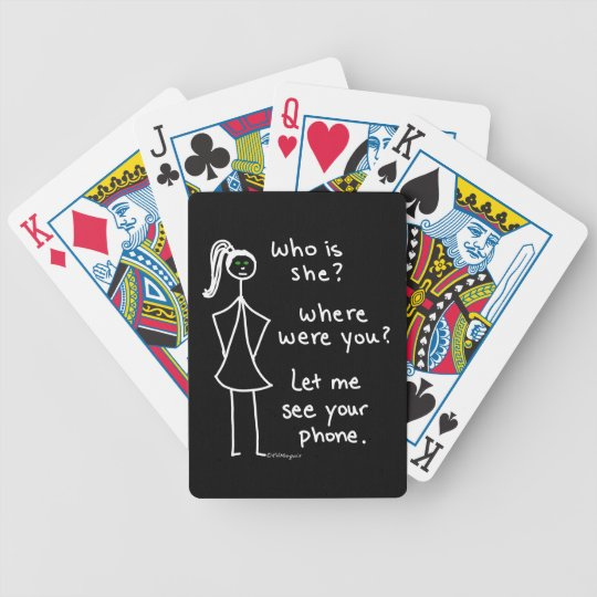 Jealous Girl Bicycle Playing Cards