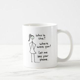 Jealous Girl Classic White Coffee Mug