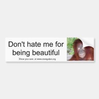 Jealousy: beautiful redhead bumper sticker