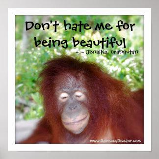 Jealousy: beautiful redhead poster