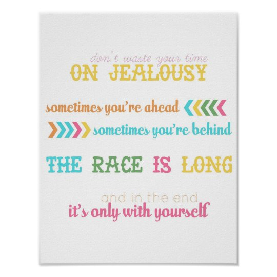 Jealousy Quote From Wear Sunscreen Song Poster