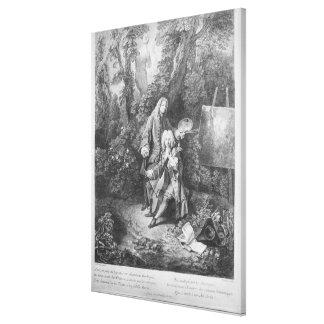 Jean Antoine Watteau and friend Monsieur Canvas Print
