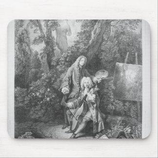 Jean Antoine Watteau and friend Monsieur Mouse Pad