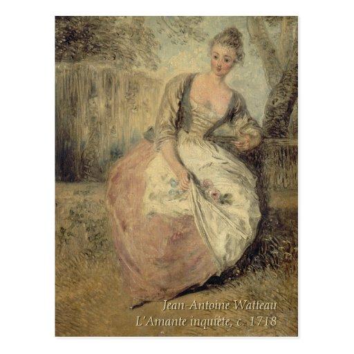 Jean-Antoine Watteau CC0588 Rococo Postcard