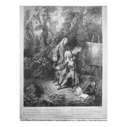 Jean Antoine Watteau y Monsieur del amigo Postales