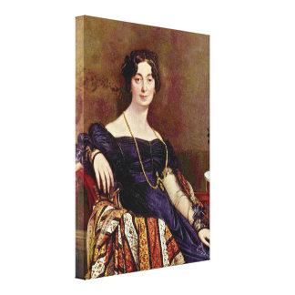 Jean Auguste Dominique Ingres - Madame Leblanc Canvas Prints