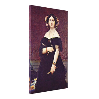 Jean Auguste Dominique Ingres - Madame Moitessier Canvas Prints
