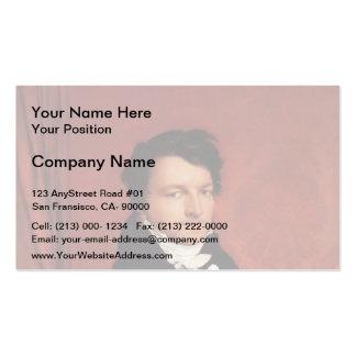 Jean Auguste Dominique Ingres- Monsieur de Norvins Business Card Templates