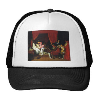 Jean Auguste Ingres- Death of Leonardo da Vinci Trucker Hat