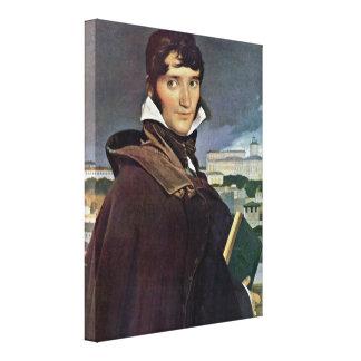 Jean Auguste Ingres - Francois-Marius Granet Stretched Canvas Prints