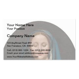 Jean Auguste Ingres- la Virgen del velo azul Tarjetas De Visita