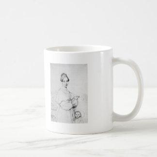 Jean Auguste Ingres- Madame Baltard and daughter Coffee Mugs