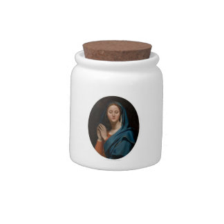 Jean Auguste Ingres- The Virgin of the Blue Veil Candy Jars