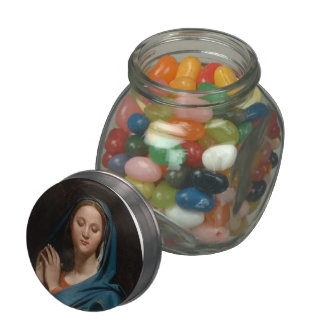 Jean Auguste Ingres- The Virgin of the Blue Veil Jelly Belly Candy Jars