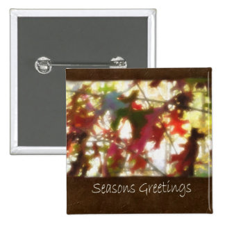 Jean Autumn Leaves 12 Seasons Greetings Button