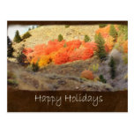 Jean Autumn Leaves 1 Happy Holidays Post Card