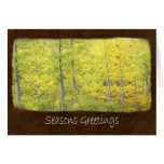 Jean Autumn Leaves 4 Seasons Greetings Card