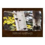 Jean Autumn Leaves 5 Seasons Greetings Greeting Card