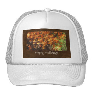 Jean Autumn Leaves 9 Happy Holidays Hat