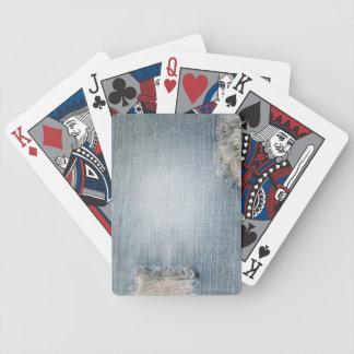 Jean azul inspiró naipes baraja cartas de poker