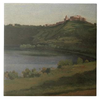 Jean-Baptiste-Camille Corot - Lake Albano Tile