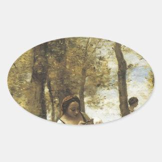 Jean-Baptiste-Camille Corot The Toilette Stickers
