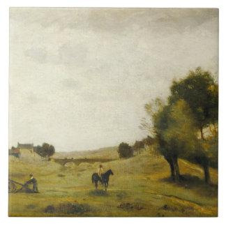 Jean-Baptiste-Camille Corot - View near Epernon Tile