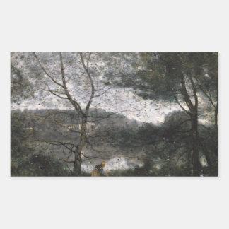 Jean-Baptiste-Camille Corot - Ville-d'Avray Rectangular Sticker