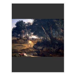 Jean-Baptiste-Camilo Corot - bosque de Fontainebl Tarjeta Postal