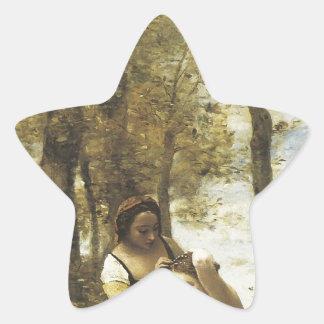 Jean-Baptiste-Camilo Corot el Toilette Pegatina En Forma De Estrella
