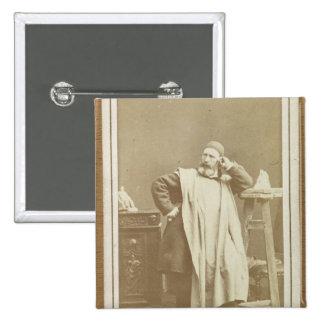 Jean-Baptiste Carpeaux 2 Inch Square Button