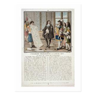 Jean Baptiste Colbert (1619-83) presenta el mapa o Tarjetas Postales