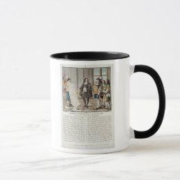 Jean Baptiste Colbert (1619-83) presents the map o Mug