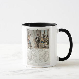 Jean Baptiste Colbert (1619-83) presents the map o Mug