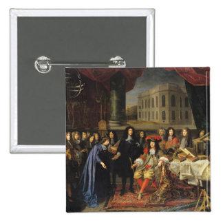 Jean-Baptiste Colbert 2 Inch Square Button