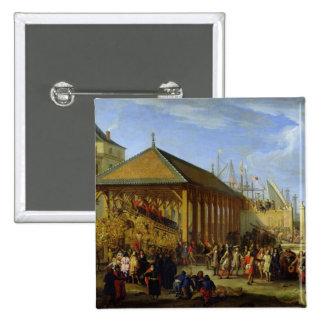Jean-Baptiste Colbert  Marquis de Seignelay 2 Inch Square Button