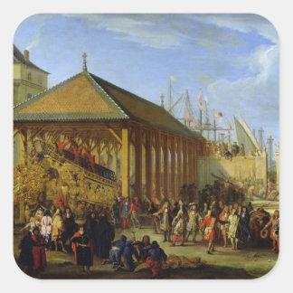 Jean-Baptiste Colbert  Marquis de Seignelay Square Sticker