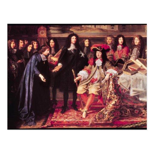 Jean-Baptiste Colbert  Presenting the Members Postcard