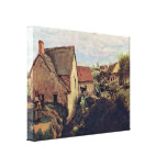 Jean-Baptiste Corot - Cabins on the creek bank Stretched Canvas Prints