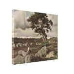 Jean-Baptiste Corot - Forest of Fontainebleau Gallery Wrap Canvas