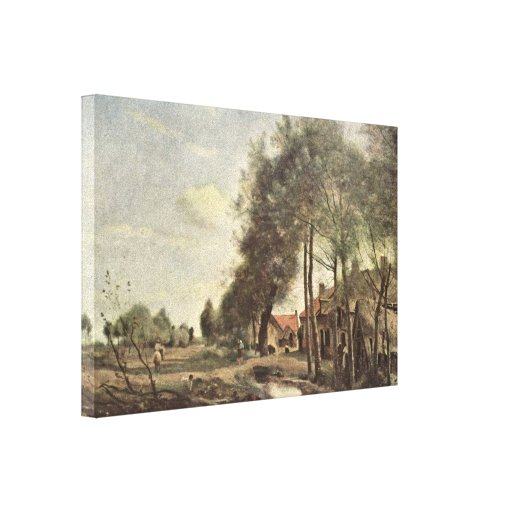 Jean-Baptiste Corot - Road to Sin-Le-Noble Canvas Prints