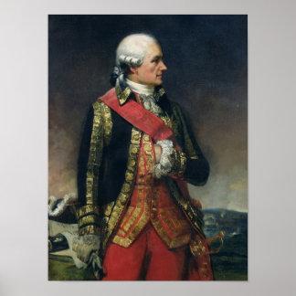 Jean-Baptiste de Vimeur Count de Rochambeau Póster