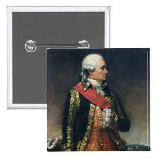 Jean-Baptiste de Vimeur  Count of Rochambeau 2 Inch Square Button
