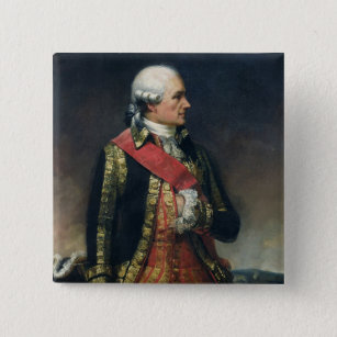 Jean-Baptiste de Vimeur  Count of Rochambeau Pinback Button